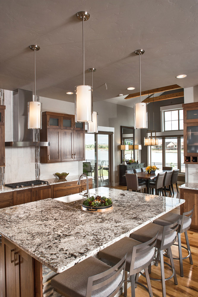 Kitchen island and lighting