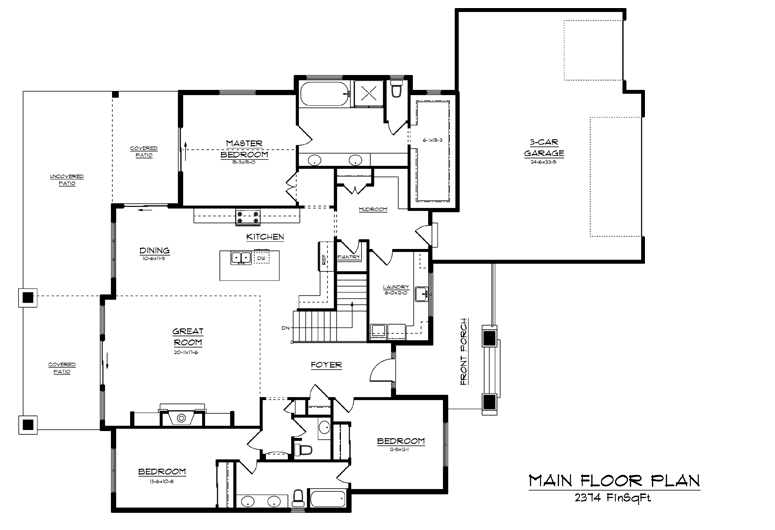 Image of main floorplan for The Vale 2