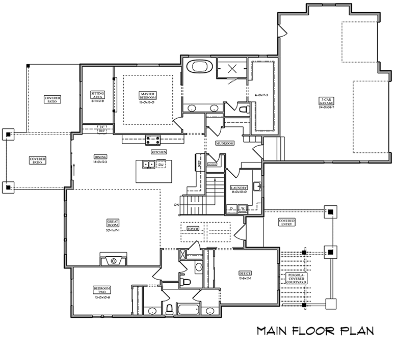 Image of main floorplan for The vale 4