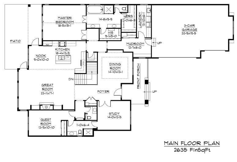 Image of main floorplan for The vale
