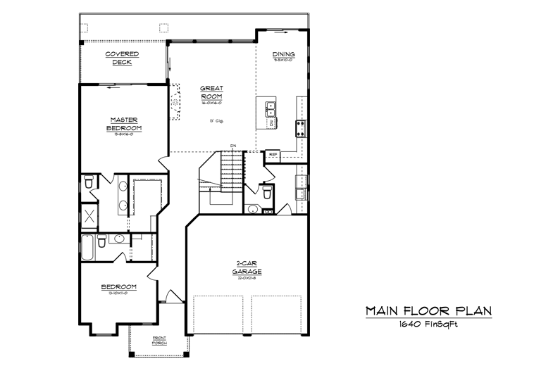 Image of main floorplan for The Dale